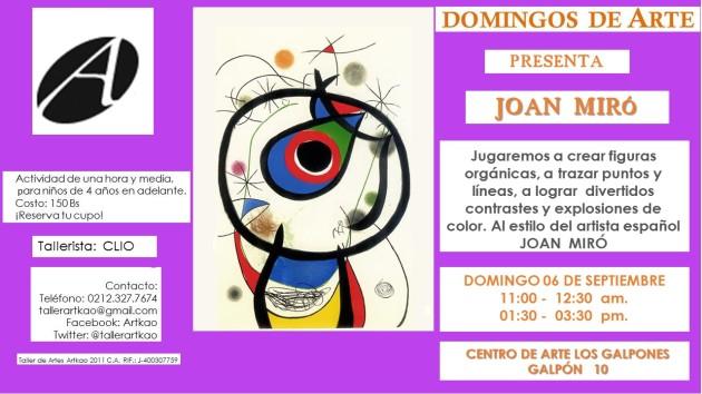 jOAN MIRÓ DOMINGO 6 sept 2015