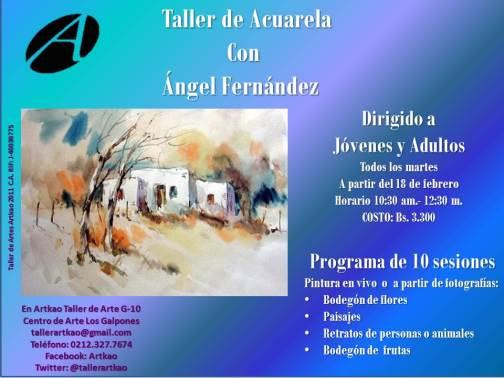 Taller de acuarela con Ángel Fernández