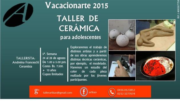 TALLER DE CERÁMICA 2015