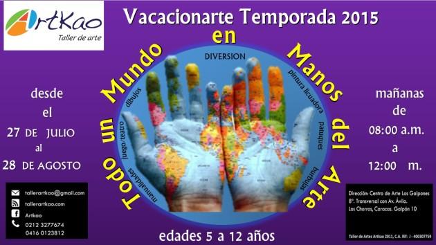 Vacacionarte 2015 Publicidad